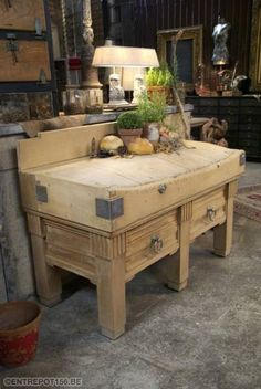 billot boucher banco da macellaio butchers block pinterest cuisine. Black Bedroom Furniture Sets. Home Design Ideas