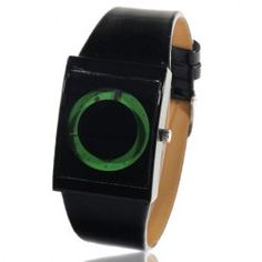 High Quality Green Dial Leisure Leather Watchband Quartz Watch - Black Cheap Watches For Men, Cool Watches, Black Watches, Men's Watches, Ring Shapes, Sammy Dress, Buy Cheap, Household Items, Quartz Watch