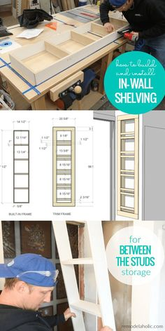 Adding Built-In Shelves for Bathroom In-Wall Storage How To Build And Install In Wall Shelving For Built In Between The Studs Storage In A Small Bathroom Bathroom Built Ins, Bathroom Wall Storage, Bathroom Interior, Downstairs Bathroom, Bathroom Layout, Bathroom Organization, Master Bathroom, Built In Wall Shelves, Built In Storage