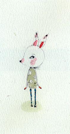 Paola Zakimi: little girl deer