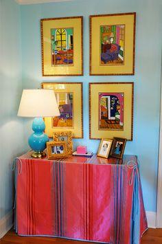 Table skirts on pinterest skirted table table skirts - Interior designers greenville sc ...