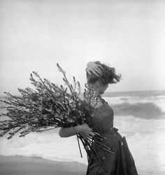 "soft-ufo: "" nathankotecki: "" Georges Dambier - Fiona Campbell-Walter in summer dress by Lanvin-Castillo, Corsica, Nouveau Femina, June 1954 "" soft-ufo "" Beach Photography, Vintage Photography, Fashion Photography, Old Photos, Vintage Photos, Lanvin, Black And White Beach, Summer Dress, Corsica"