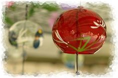Japanese glass wind chimes