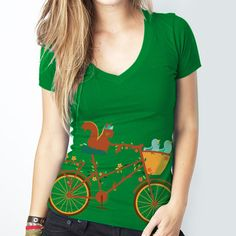 Tree Cycle Tee Women's, 18€, now featured on Fab.