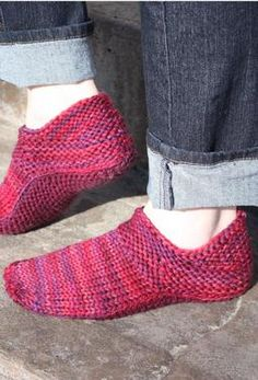 """""""Options"""" Slippers for Women - Knitting Patterns and Crochet Patterns from KnitPicks.com"""