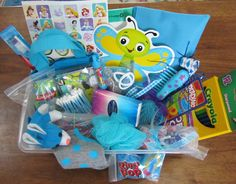 Blue-themed box for girl age 10-14; see other picture for the box all packed.