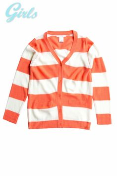 STRIPED SWEATER CARDIGAN MST1549-CORAL – Chelsea Apparel