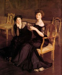 the Sisters, 1904 by William McGregor Paxton
