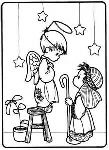 Nativity play - precious moments coloring pages