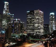 Night view in Los Angeles.