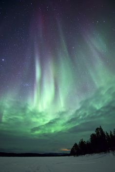 To be absolutely in awe with this - up close and personal... #NorthernLights