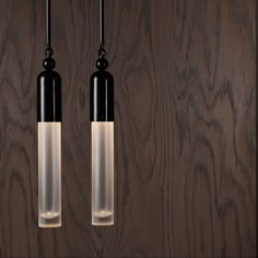 "Apparatus - Tassel 1 Pendant. 3""d, 21""h, overall fixture height to order. $2000. 800 lumens. 2700K. Dimmable LED. Finish to order."