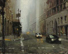 Hsin-Yao Tseng (was born In 1986 In Taipei Taiwan) Urban Painting, Music Painting, Cityscape Art, Urban Industrial, Cool Landscapes, Urban Landscape, Impressionism, Art Inspo, Light Colors