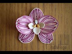 Quilled Orchid - Orchidée en papier - Orquídea en papel - YouTube