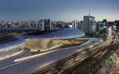 Built by Zaha Hadid Architects in Seoul, South Korea with date 2014. Images by…