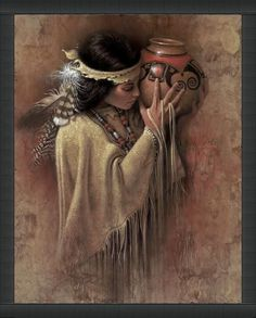 Collectors know Lee Bogle for his images of Native Americans, often solitary figures of women. Description from fine-art.com. I searched for this on bing.com/images