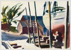 Edward Hopper, Boatyard, 1934-38