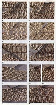 various methods of joining hairpin lace crochet - some a sort of cable using no extra yarn, others basic crochet stitches; just had another look - this is hairpin heaven! scores of detailed charts, pics on hairpin techniques
