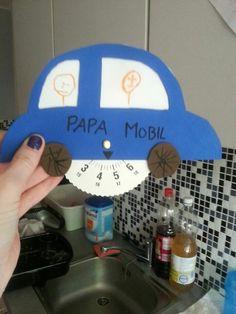 Een parkeerschijf maken voor Vaderdag. Komt altijd van pas!