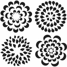 4 x flower design stencil sheet for wall decoration / greeting card making. Stencils do not have a sticky back so ideal for spraying or sponging paint on to fabric, walls and for greeting card making. Stencil Art, Stencil Designs, Flower Stencils, Stenciling, Printable Stencil Patterns, Stencil Templates, Paper Art, Paper Crafts, Card Maker