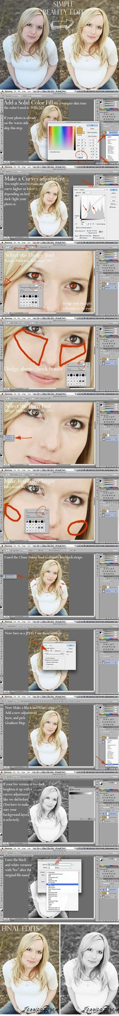 Simple Beauty Edit in Photoshop CS6 » Jessica Drew Photography
