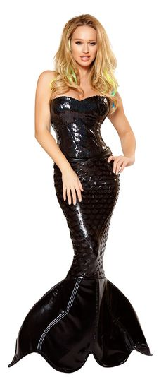 Sexy Mermaid Mistress Costume Black
