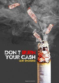 33 Contoh Poster Kesehatan tentang Anti Rokok No smoking – Anti-Smoking Poster b… Quit Smoking Motivation, Quit Smoking Tips, Smoking Kills, Giving Up Smoking, Creative Poster Design, Creative Posters, Anti Smoking Poster, Smoking Campaigns, Smoke Design