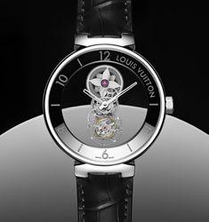 Louis Vuitton Tambour Moon Mystérieuse Tourbillon Volant. Montres Chic ... 7fbd12bc9902