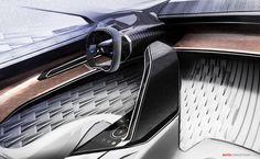 Peugeot Fractal Concept graphisme aspects de surfaces