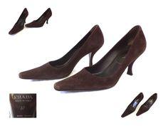 PRADA Designer Women's Heels Shoes size EU 37 Made in Italy - VERO CUOIO #PRADA #CourtShoes #Business