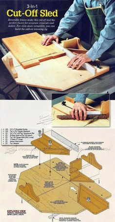 Table Saw Cut Off Sled Plans - Table Saw Tips, Jigs and Fixtures | WoodArchivist.com