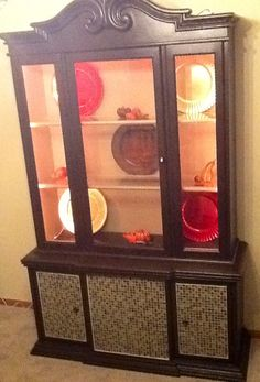 China Cabinet Makeover On Pinterest China Cabinet Redo