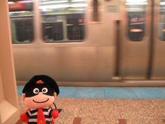 Hamburglar was waiting for subway / Chicago, USA 100412