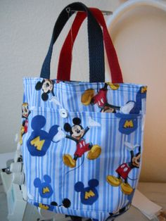 Mickey Mouse kids tote bag by debbiedavis1 on Etsy, $8.00