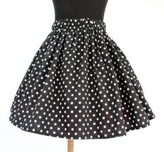 Girl's Black and White Polka Dot Retro Skirt Pleated Skirt, Skater Skirt, Baby Sewing Tutorials, Rockabilly Shoes, Eclectic Style, Vintage Children, Hair Bows, Polka Dots, Black And White