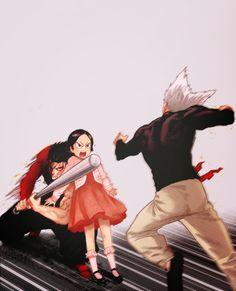 One Punch Man-Metal Bat & Zenko & Garou - Anime and Manga One Punch Man Funny, One Punch Man Anime, Anime One, Anime Guys, One Punch Man Sonic, Metal Bat, Saitama One Punch Man, Men Quotes, Anime Kawaii