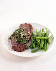 """See the """"Pan-Seared Steak with Salsa Verde"""" in our Quick Beef Recip..."""