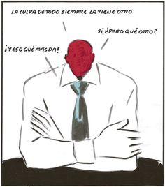 La culpa de todo siempre la tiene otro (El Roto, 2012-11-09)