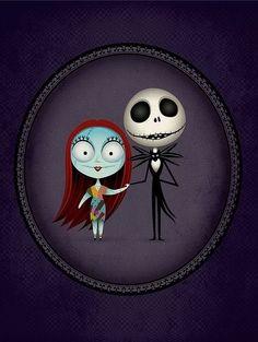 Jack & Sally chibi cookie