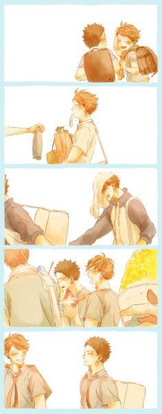 ...so, iwaizumi always led oikawa till they finally grew up and