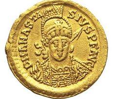 Collezione privata. Solido di Teodorico in nome di Anastasio_Fronte.