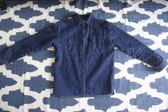 da0508c2d8 Fade of the Day - Rogue Territory Raw Denim Work Shirt (13 Months