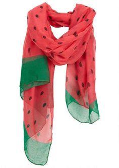 Watermelon Oblong Scarf - View All Accessories - Accessories - dELiA*s