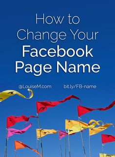 How to Change Your Facebook Page Name 2015