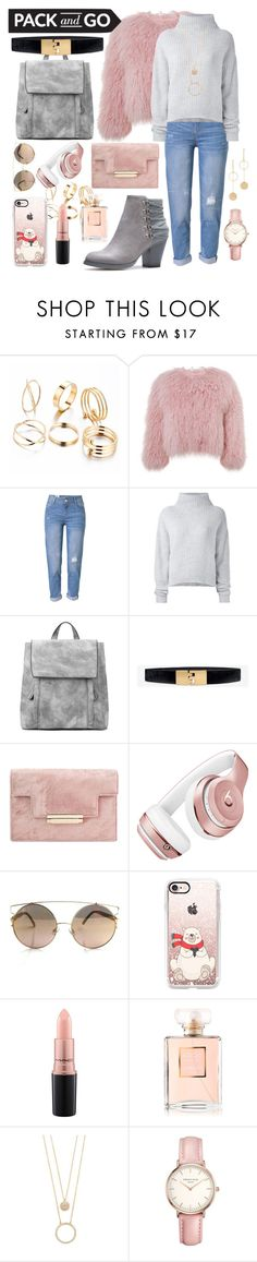 """""""Winter holidays"""" by asnaate ❤ liked on Polyvore featuring Charlotte Simone, WithChic, Le Kasha, White House Black Market, Beats by Dr. Dre, Casetify, MAC Cosmetics, Chanel, Kate Spade and Topshop"""
