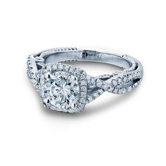 Verragio #Engagement #Ring with a twist setting