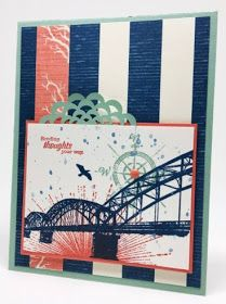 Wherever You Go card using Stampin' Up! products #margiecollins