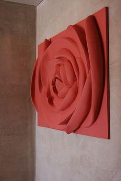 Painel Iva Viana Gesso pigmentado posteriormente pintado  www.ivavianaescultura.com