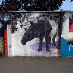 Dortmund: Street Art Mauerprojekt an der Weißenburger Straße, Nordstadt, Dortmund