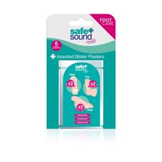 Safe & Sound Foot Care ASSORTED BLISTER PLASTERS X 6